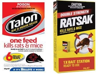 Talon and Ratsak rat bait toxic to pets dogs cats animals rabbits